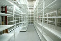 Empty warehouse, storage  racks Royalty Free Stock Photo