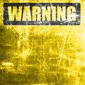 Empty warning sign Royalty Free Stock Photo