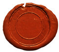 Empty wax seal Royalty Free Stock Images