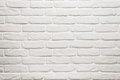 Empty white brick wall texture background with copy space Royalty Free Stock Image