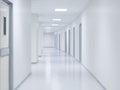 Empty white corridor background Royalty Free Stock Photo