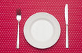 Empty white dinner plate Royalty Free Stock Photo
