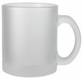 Empty white mug isolated white background mug made frosted glass Royalty Free Stock Photo