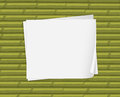 Empty white papers Royalty Free Stock Photography