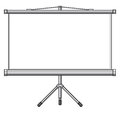 Empty white projector screen blank presentation or projector roller screen Stock Photos