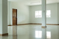 Empty white room interior in residential house Royalty Free Stock Photo