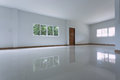 Empty white room interior in residential house building Royalty Free Stock Photo