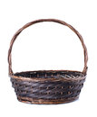 Empty wicker basket. Royalty Free Stock Photography