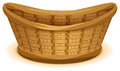 Empty wicker basket nest