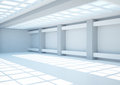 Empty wide room with lattice Stock Photography