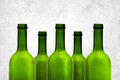 Empty wine bottles Royalty Free Stock Image