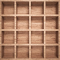 Empty wood shelf full frame d render Royalty Free Stock Photos