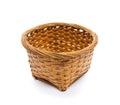 Empty Wooden Basket isolated on white background Royalty Free Stock Image