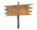 Empty wooden blank signpost