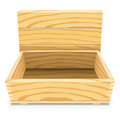 Empty Wooden Box Royalty Free Stock Photos