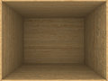 Empty wooden box d image Stock Photography