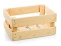 Empty wooden box Royalty Free Stock Photo
