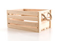 empty wooden box Royalty Free Stock Photo