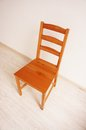 Empty wooden chair Royalty Free Stock Photo