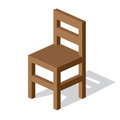Empty wooden chair vector illustration Royalty Free Stock Photo