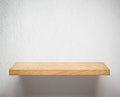 Vacío madera estante o en blanco pared
