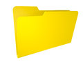 Empty yellow folder. isolated on white. Royalty Free Stock Image