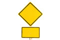 Empty yellow traffic road sign Royalty Free Stock Photo
