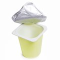 Empty yoghurt pot Royalty Free Stock Photo
