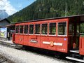 Empty Zillertalbahn railway carriage at the end of the line Royalty Free Stock Photo