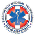 Emt paramedic medical design cross illustration of an or with star of life symbol and first aid Stock Images