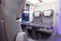 Emtpy interior of the train Royalty Free Stock Photo