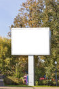 Emty big LED display in autumn city park Stock Image