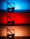Emty glass on bar table backgrounds with Royalty Free Stock Photos