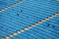 Emty seats in a station Royalty Free Stock Images
