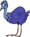 Emu ostrich bird cartoon illustration Royalty Free Stock Photo