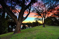 Emu plains and nepean river penrith australia beautiful sunset at by the bracketed exposure with nd filter Royalty Free Stock Photo