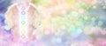 En tête de site web de reiki angel wings et de sept chakras Photographie stock