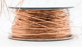 Enamel copper wire closeup shot of a roll of Stock Photos