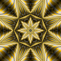 Encapsulated star mandala Stock Images