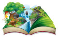 An enchanted book illustration of on a white background Stock Images