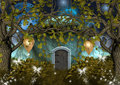 Enchanted elves house Royalty Free Stock Image