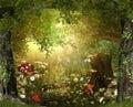Enchanting Lush ,Fairy Tale Woodland Royalty Free Stock Photo