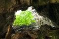 Enchanting tropical mountain cave Stock Photos