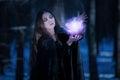 Enchantress at the magic bullet Royalty Free Stock Photo