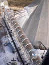 Enclosed conveyor from above Royalty Free Stock Photo