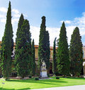 Enclosed court of Basilica Santa Croce ,Florence Royalty Free Stock Photo