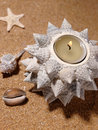 Encore-durée sur le sable de mer Photos libres de droits