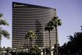 Encore hotel and palm trees las vegas nevada Stock Image