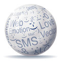 Encyclopedia ball with smileys Royalty Free Stock Photo