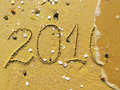 End of 2010 on the beach Royalty Free Stock Photo